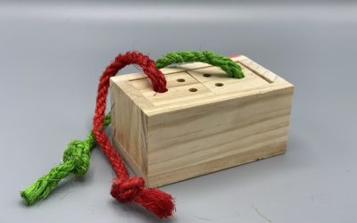 Wooden candy cube